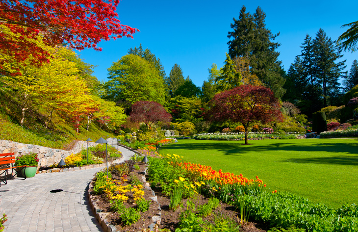 Butchart Gardens in Spring