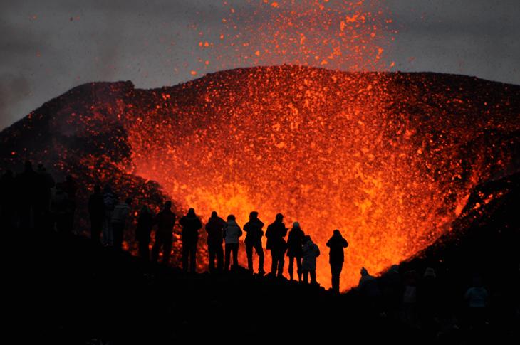 A volcanic erruption