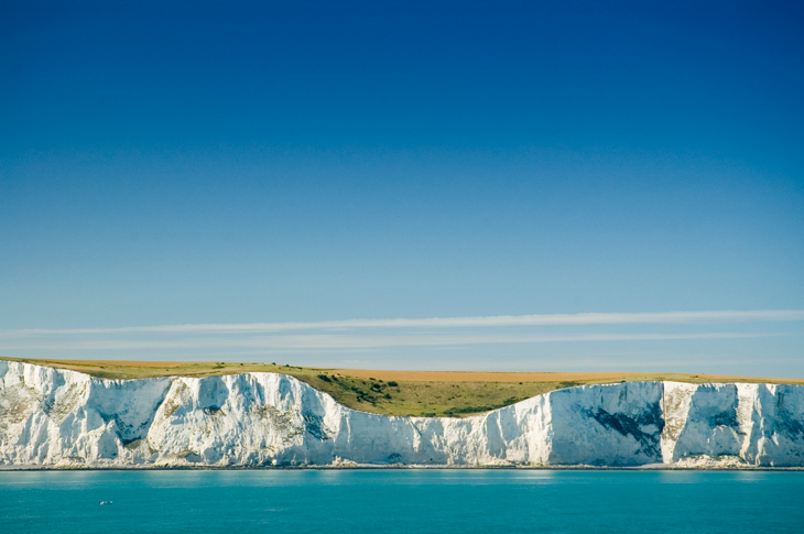 White cliffs in Dover